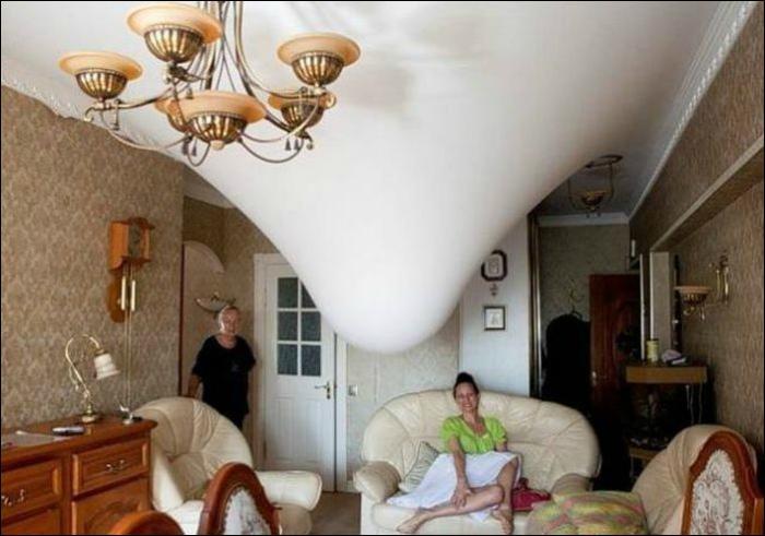 Оригинальный потолок.