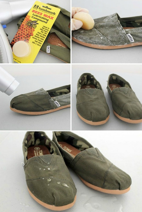 Como hacer un trapo zapatos a prueba de agua.
