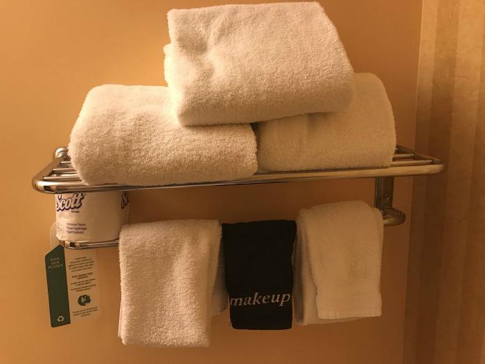 Хитрое полотенце для лица.