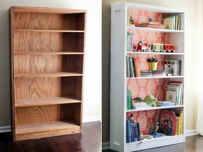 Удивительная трансформация книжного шкафа.