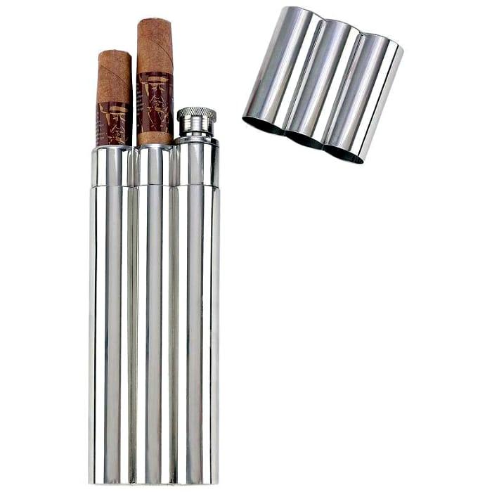 Два в одном: футляр для сигар и фляга.