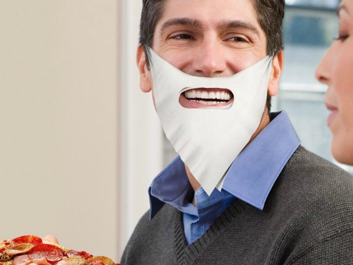 Защитная салфетка для рта.