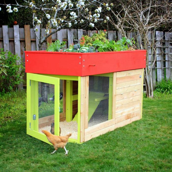 Маленький курятник с садом.