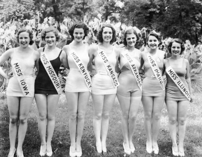 Участницы конкурса красоты Мисс Америка, 1933 год.