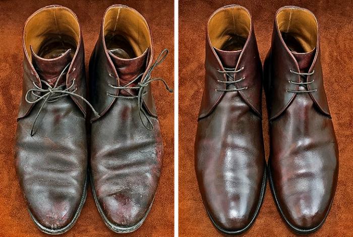 Уход за кожаной обувью. | Фото: Vantazer.ru.