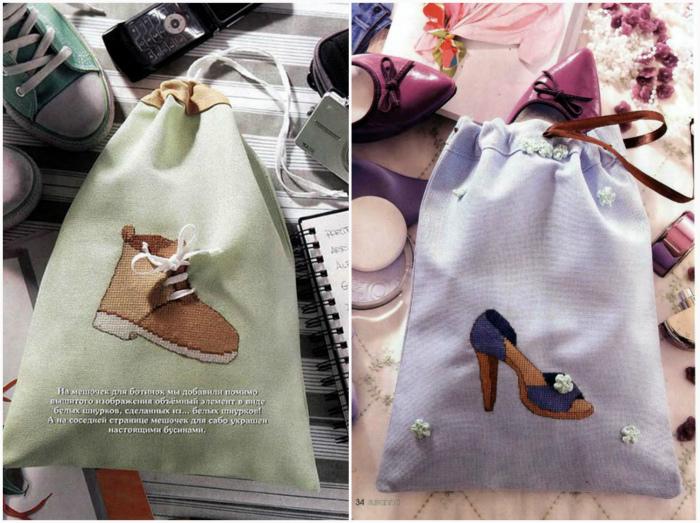 Обувные мешки. | Фото: femmewetalk.