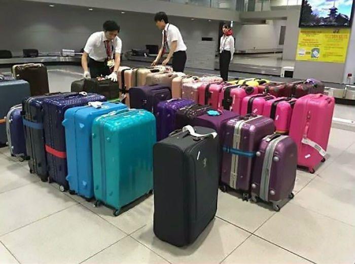 Сортировка багажа в аэропорту.