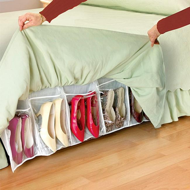 Мягкий органайзер для обуви. | Фото: Pinterest.