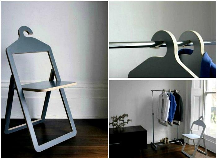 Складные стулья-вешалки. | Фото: Factsinter.