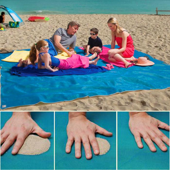 Пляжная подстилка, на которой не задерживается песок.