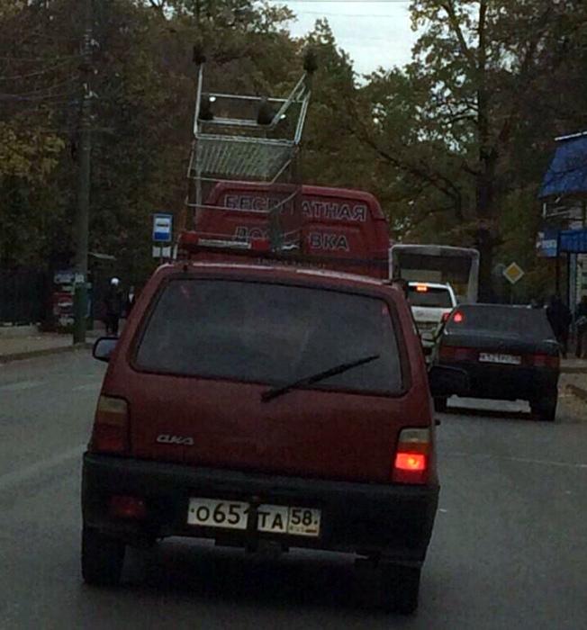 Негодяй, который украл тележку и не стесняется. | Фото: Subscribe.Ru.