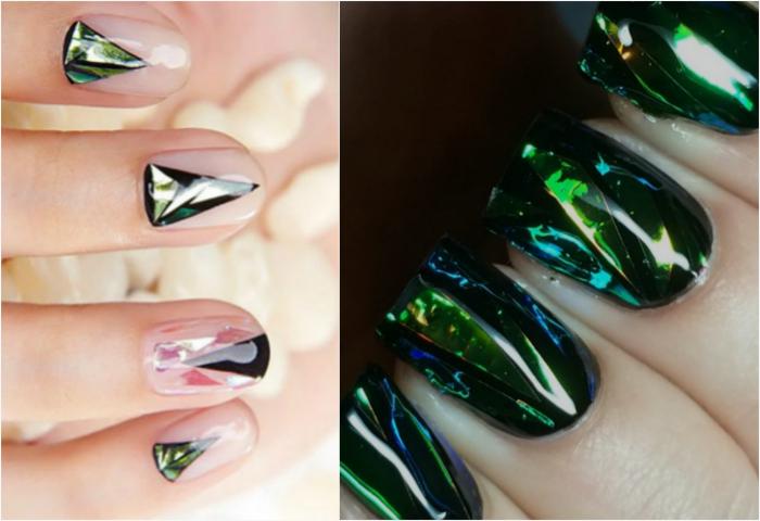 «Стеклянные» ногти.