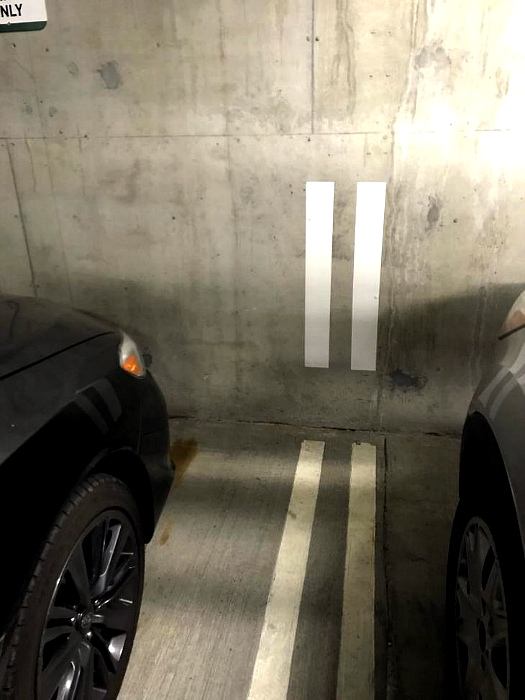 Разметка на парковке. | Фото: BabaMail.