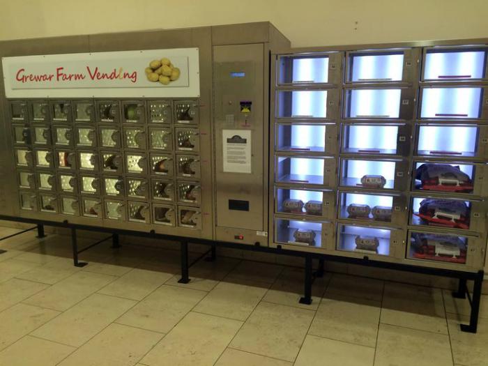 Торговый автомат с натуральными продуктами.