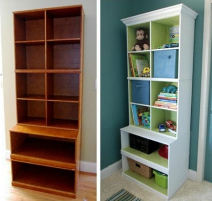 Чудесный пример редизайна скучного деревянного шкафа.