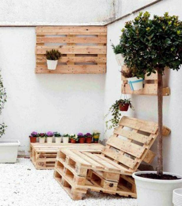 Комплект садовой мебели. | Фото: MAKE-SELF.