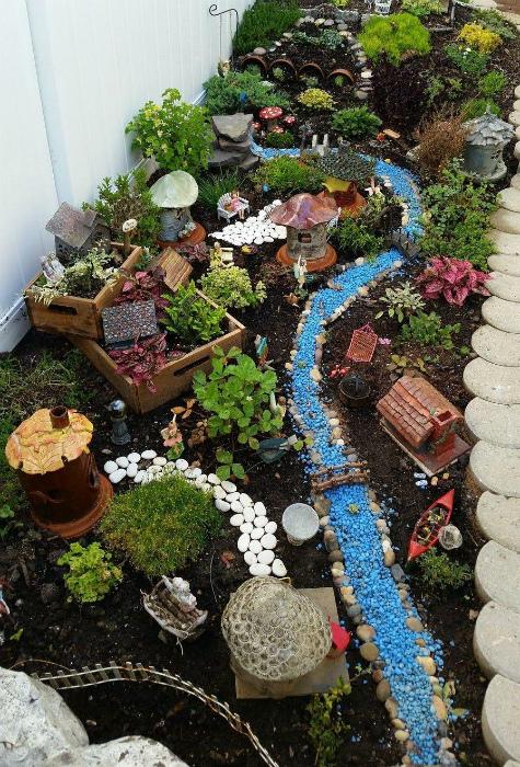 Небольшой сказочный сад. | Фото: Pinterest.