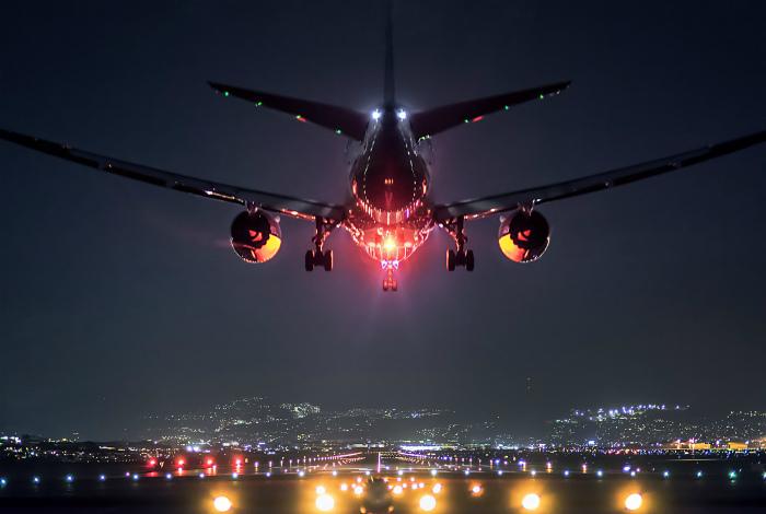 Огни в ночном небе. | Фото: 3D tapety na plochu.