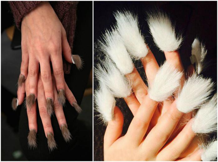 Меховые ногти.