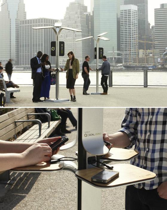 Комфортабельные станции, где можно подзарядить свой мобильный, ноутбук, планшет или плеер.