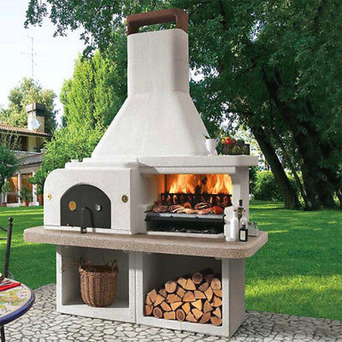 Современная печь-гриль.