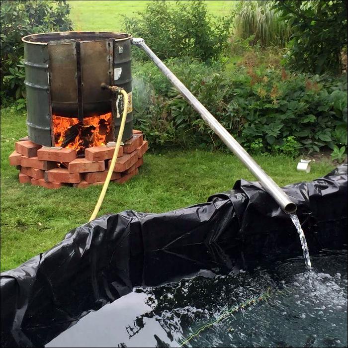 Дачный водонагреватель.