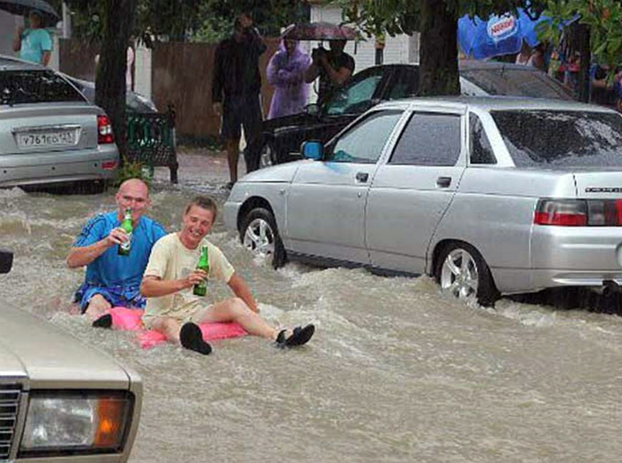 Туристы в Сочи.