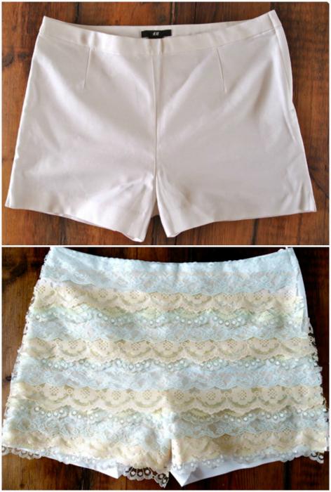 Модные кружевные шорты.