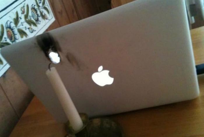Кажется, яблоко немного запеклось! | Фото: Watson.