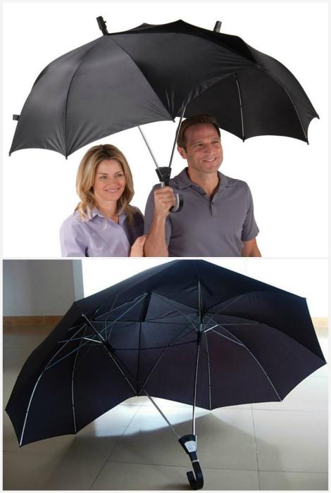 Двойной зонтик для влюбленных.