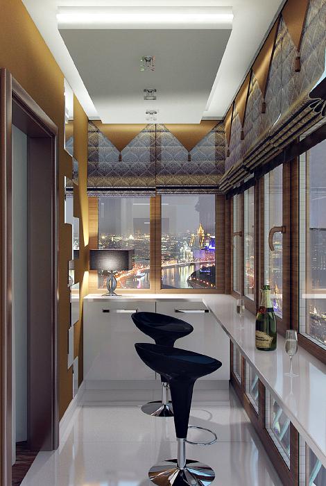 Балкон в стиле модерн.