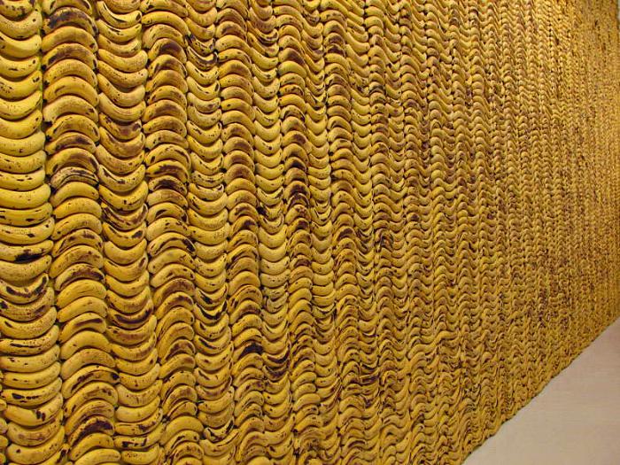 Стена из бананов.