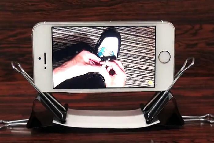 Самодельная подставка для смартфона.