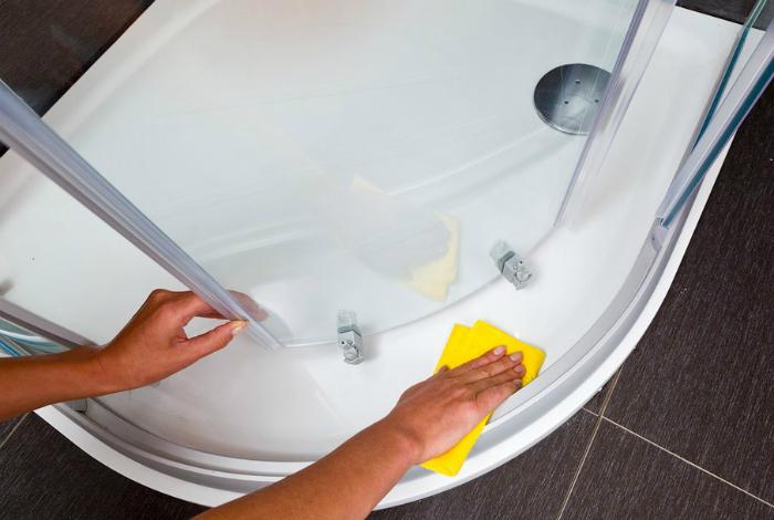 Чтобы блестела ванна и раковина.
