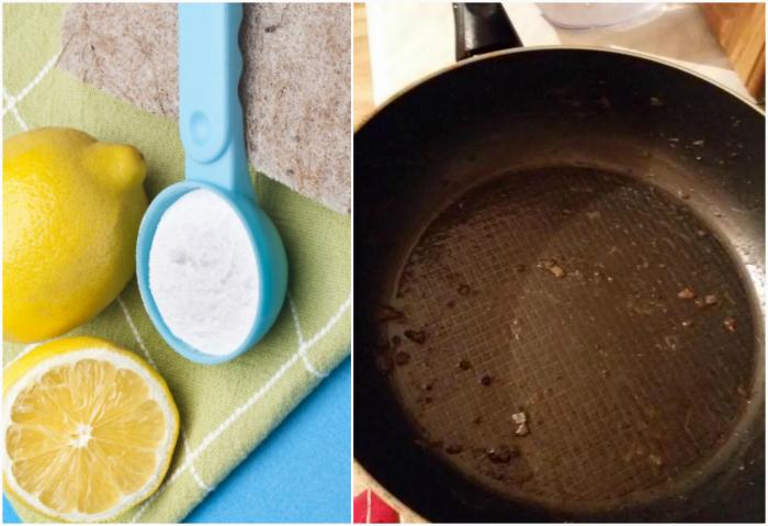 Чистка посуды от жира.