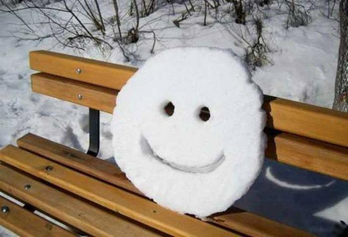 Минутка позитива в зимнем парке.