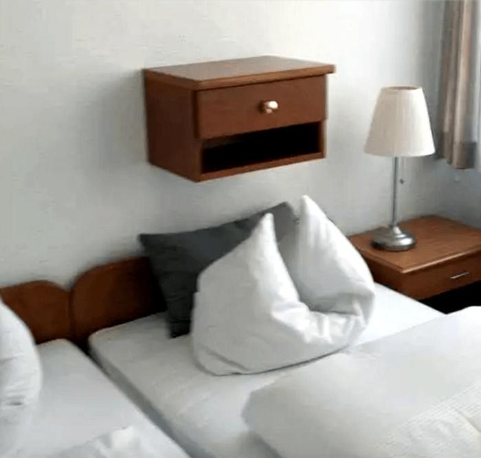 Оригинальный дизайн спальни.