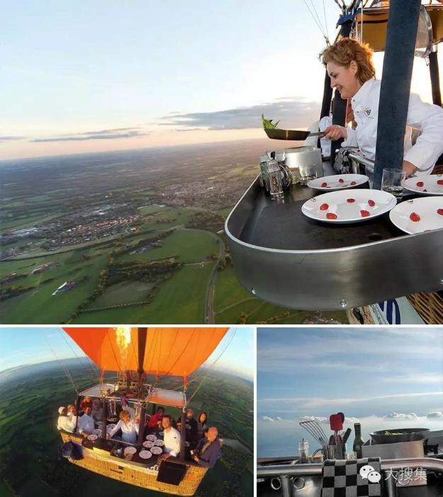 Воздушный шар-ресторан.