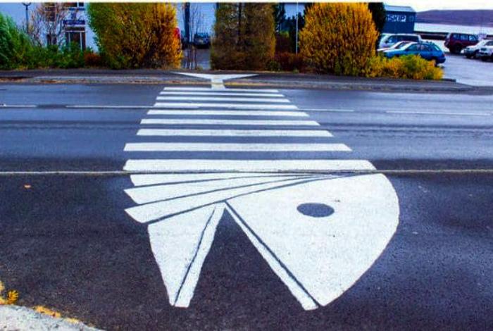 Дизайнерский пешеходный переход. | Фото: Ololo.tv.