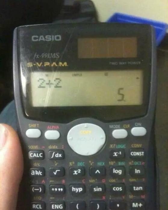 Гениальный калькулятор с необычной системой подсчетов. | Фото: ВладТайм.