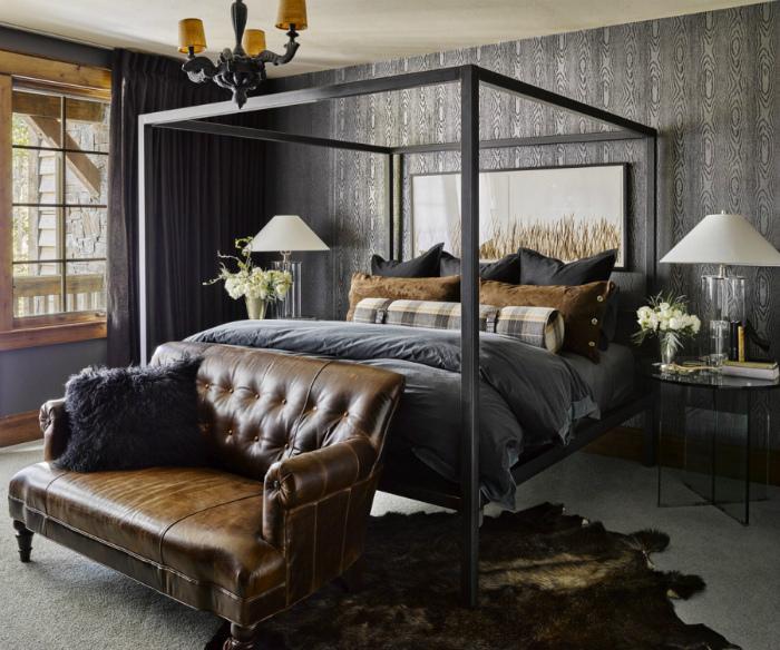 Атмосферная спальня в рустикальном стиле.