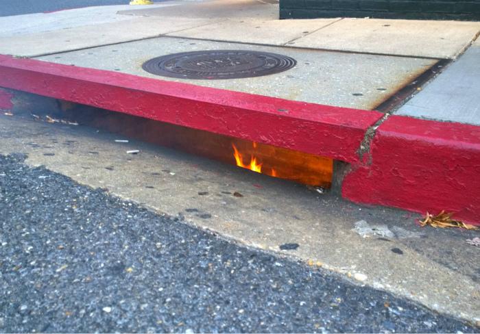 Пожар под землей.