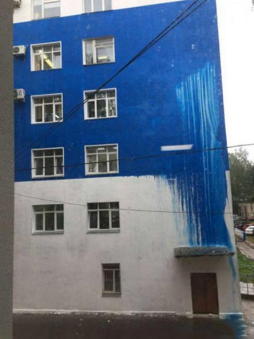 «Грамотная» покраска фасада.