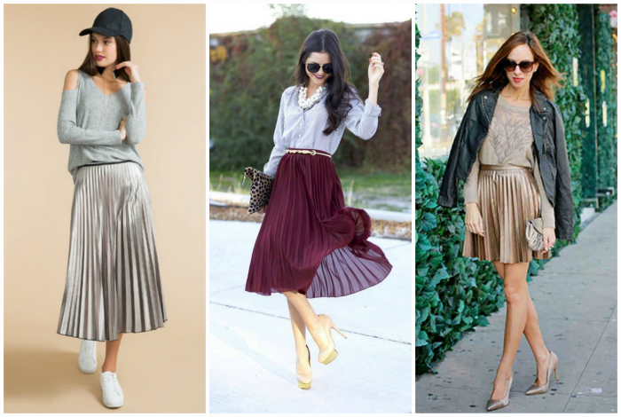 Модные юбки-плиссе.