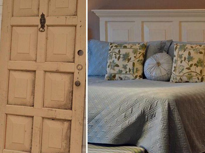 Альтернативное использование старой двери. | Фото: pinterest.ch.