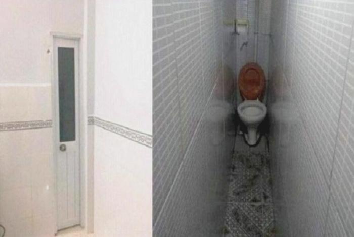 Очень узкий туалет.  Фото: pixmafia.com.