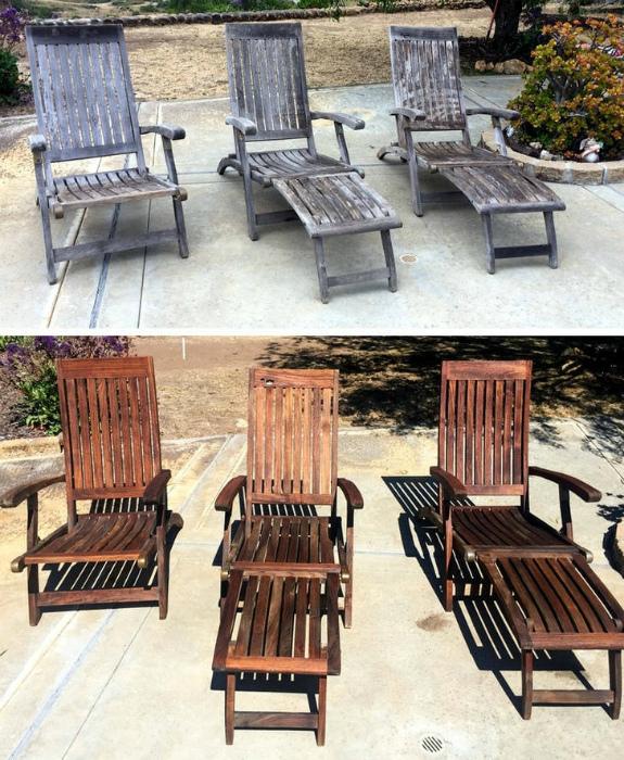 Уличные стулья и шезлонги. | Фото: Izismile.com.