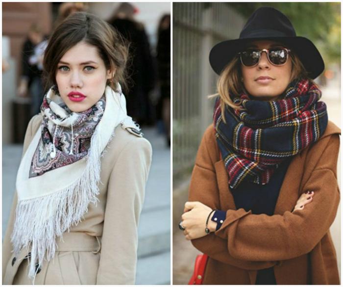 Образы с шарфами и платками.