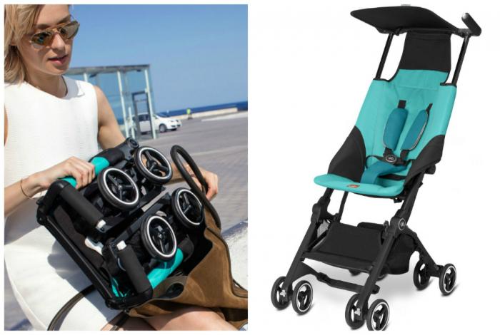 Прогулочная коляска от компании GB, которую можно без труда сложить в сумочку.