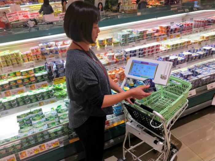 Интерактивные тележки в супермаркетах. | Фото: Sugoi.